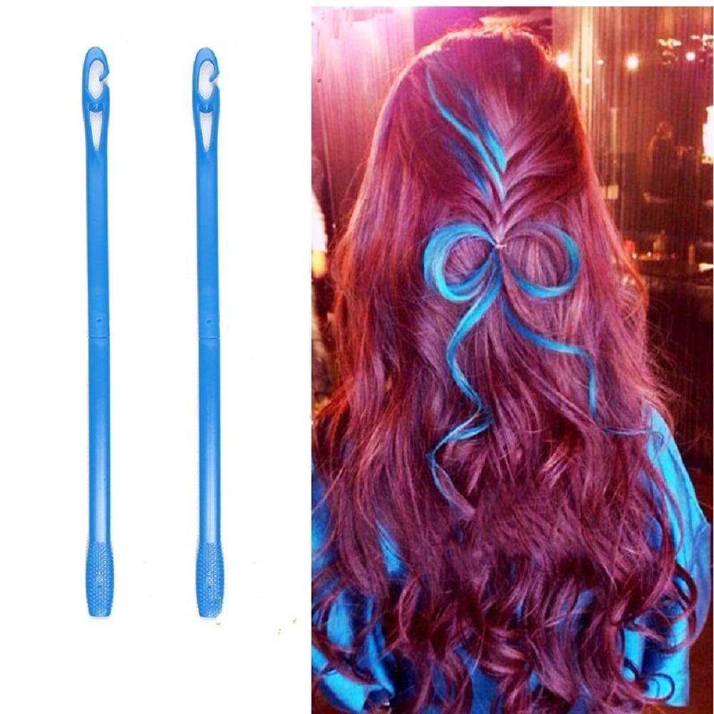 18/20pcs 15/20/25/30 Plastic Magic Hair Roller Long Hair Curler+ 2pcs Pear Head Hooks DIY Hair Curlers Tool Styling Hair Curling