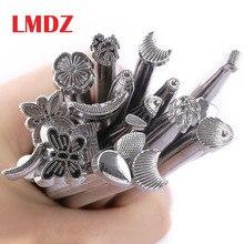LMDZ cuero tallado a mano sillín de trabajo herramientas de fabricación de herramientas de grabado de artesanía de cuero 1 Juego (20 piezas)