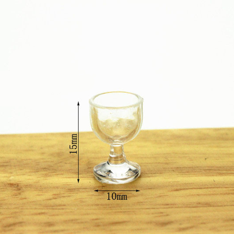 40pcs/lot 1:12 Dollhouse Miniature Kitchen wine glass Bar Furniture Accessories Doll House Toys for Children 3