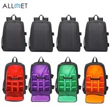 ALLOET цифровая DSLR камера сумка водостойкая камера видео рюкзак с дождевой крышкой SLR штатив чехол для ноутбука сумки для sony Canon Nikon
