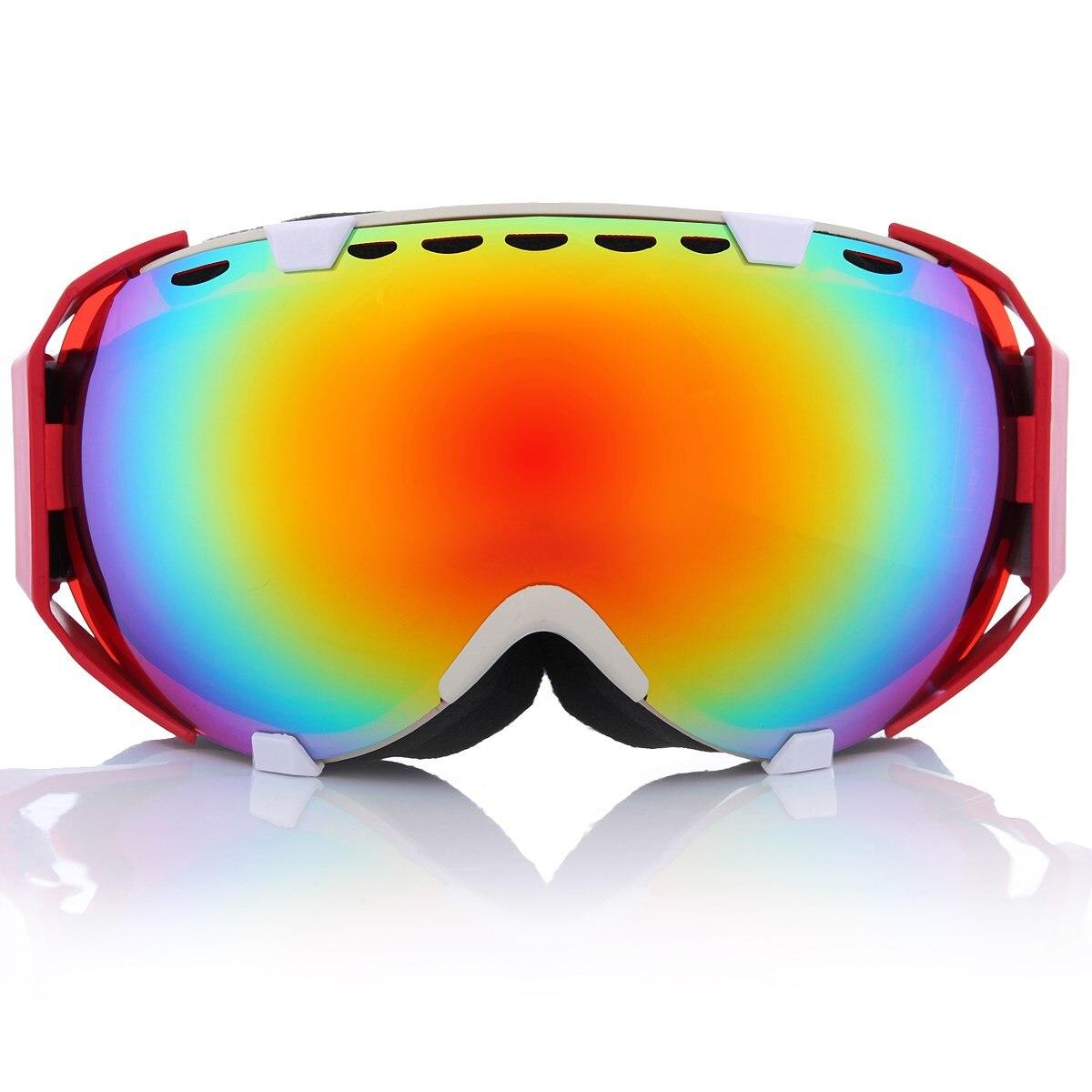 Prix pour 11 Couleurs Professionnel Unisexe Adulte Snowboard Ski Lunettes Anti Brouillard UV Double Lentille En Verre Ski Lunettes