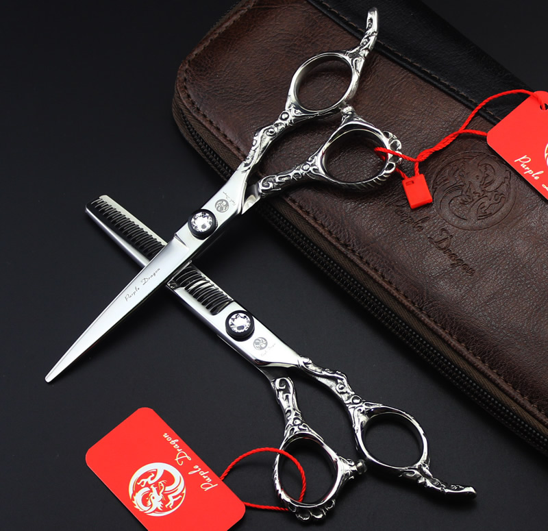 High Quality  6.0Inch JP440C Cutting Scissors and Thinning Scissors Sets,Hair Shears with Maya Handle  for Barber 1set  LZS0539 6 inch professional hairdressing scissors set cutting and thinning barber shears high quality dragon handle ruby style