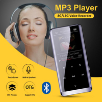Ultra Thin Screen Lyrics Synchron Lossless HIFI Bluetooth MP4 Player Portable Mini Music Listen Color Display M13
