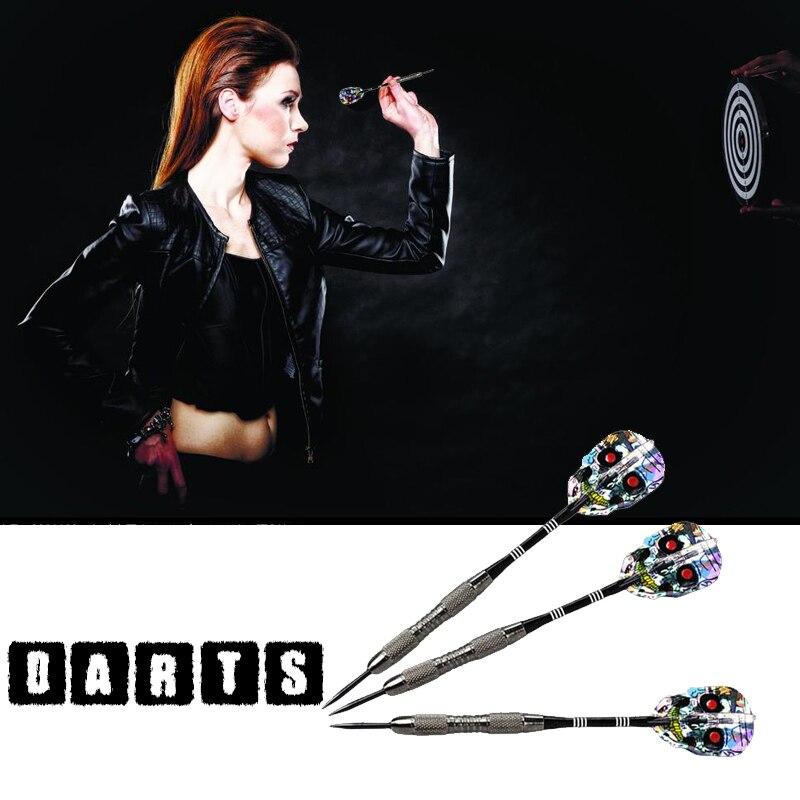 21 г алюминиевые стальные наконечники Дартс череп скелет узор оперение для дротика вал Дартс
