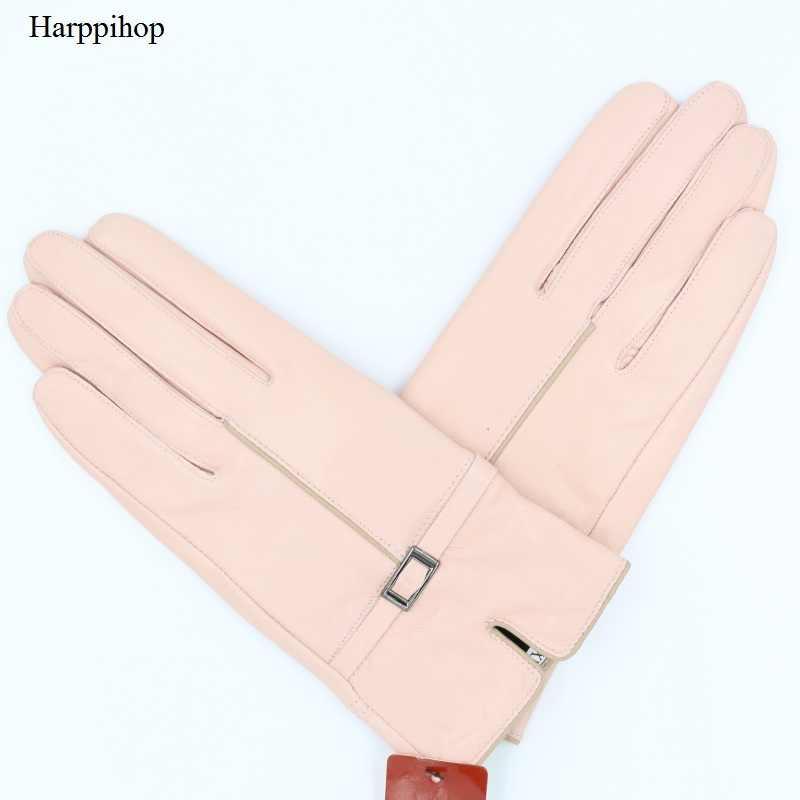 秋と冬の本革手袋用女性ワイン赤シープスキン手袋2017新しい到着ファッション暖かいミトンG92-03