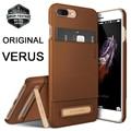 Verus para apple iphone 7 7 plus vintage case de cuero de lujo Ranura Para tarjeta Cubierta de Bolsa Casos de Metal Pata de Cabra para 7/7 Plus
