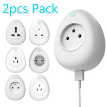 2pcs pack smart Charger Smart Plug Wifi Smart Socket Tuya Smart Life App EU France US AU UK Poland Korea Plug Alexa Google Home
