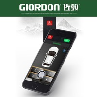 Mobile phone control car, reach to open the lock, comfortable access, one key start security system MP900