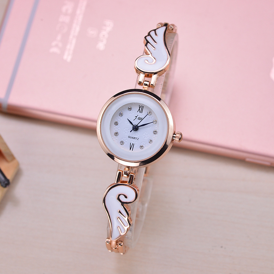 Fashion Top Brand JW Quartz Watch Women Luxury Rose Gold Crystal Bracelet Wrist Watches For Woman Gift Clock Laides Reloj Mujer