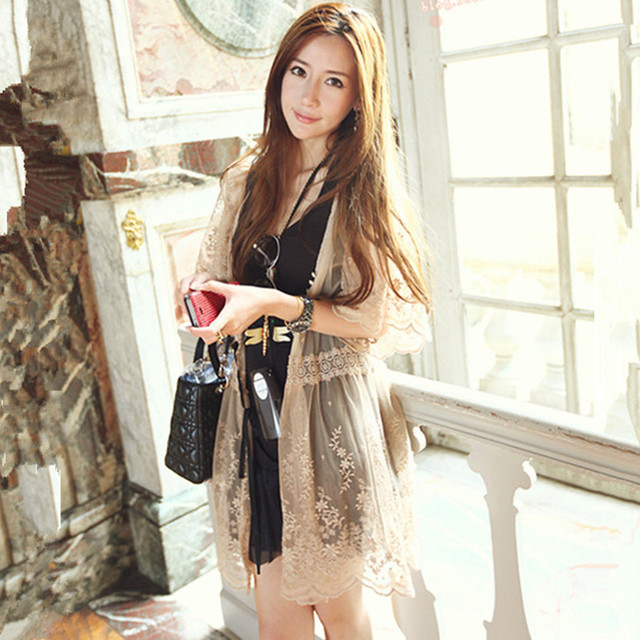 Hot 2015 Spring/Summer Fashion Lady's Lace Crochet Cardigan Women ...