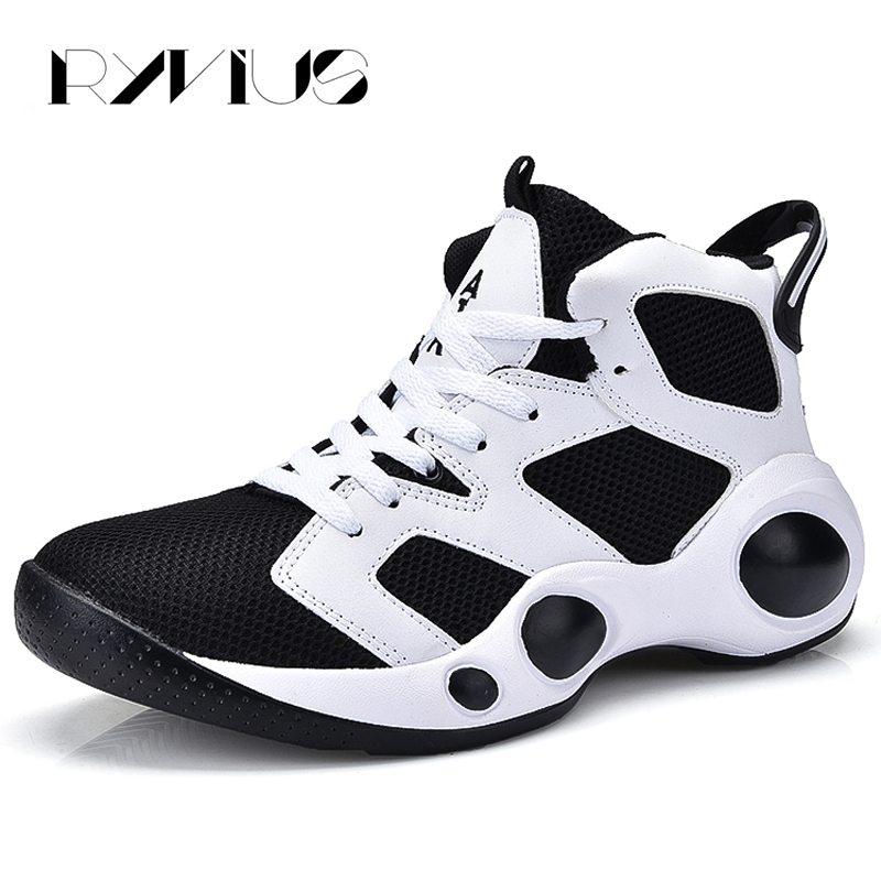 Ryvius Big Size 35-45 Basketball Shoes For Men High Top Sport Cushion Sneakers Women Athletic Outdoor Basket Femme Air Mesh Red
