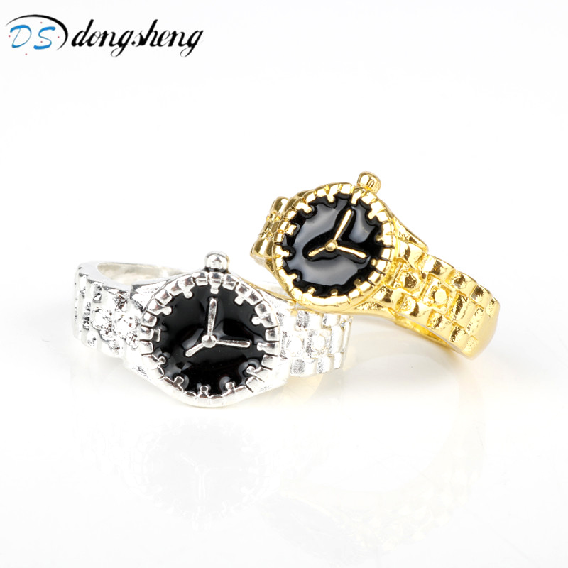 dongsheng Fashion Trendy Finger Ring Silver Gold Color ...