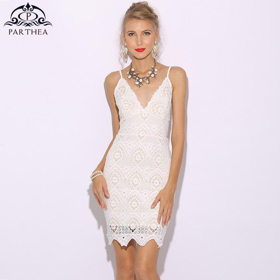 aea21917864c € 20.78 40% de DESCUENTO|Parthea encaje Vestido elegante mujeres Vestido de  Verano blanco Floral Bodycon partido Vestido Sexy Club vestidos damas ...