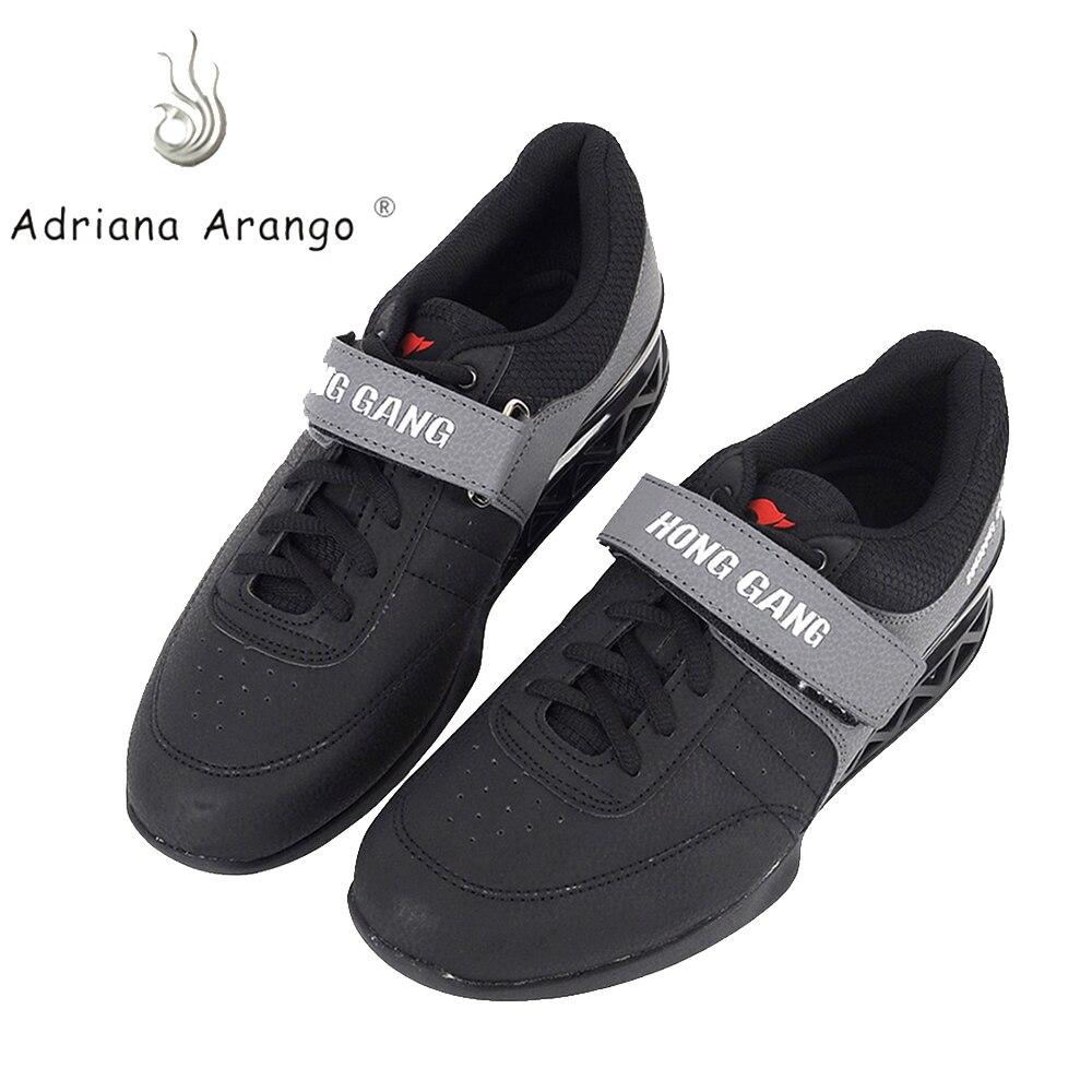 Chaussures d'haltérophilie Adriana 2019 chaussures de levage pour Suqte exercice de levage de puissance en cuir chaussure d'haltérophilie antidérapante