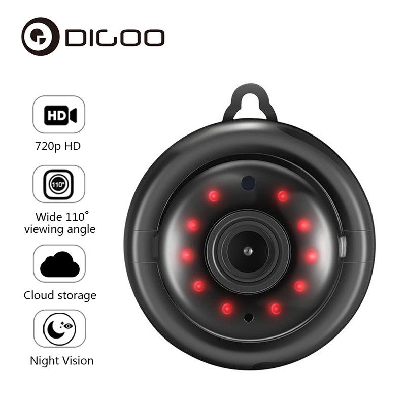 DIGOO DG-MYQ 2.1mm Lens 720 P WIFI Night Vision Two-way Audio Home Security IP Camera Motion Detection Onvif Monitor
