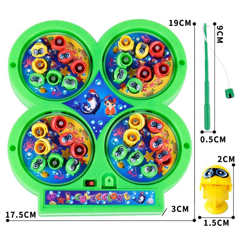 Вращающегося магнитного магнит рыбалка игрушки 4 удочки 48 шт. рыбки пение дети детей Классические игрушки подарок на день рождения