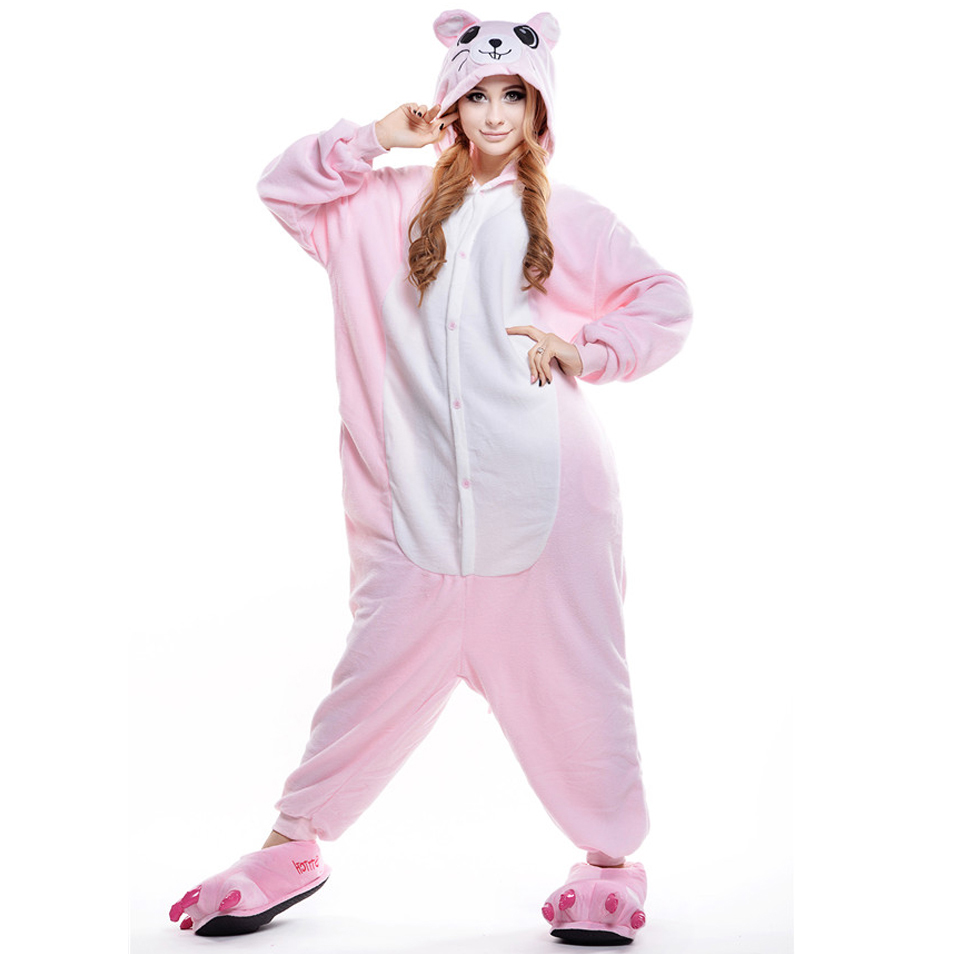 751c556a4460 Pink Mouse Hamster Pajamas Home clothes for women clothing DL Soft Cartoon  Costume Onesies Pajamas Womens Pijamas Animal-in Pajama Sets from Underwear  ...