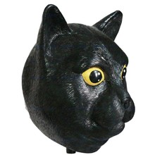 Quality Black Cat Masks Fancy Dress Rubber Latex Full Face Animal Mask for Halloween Party