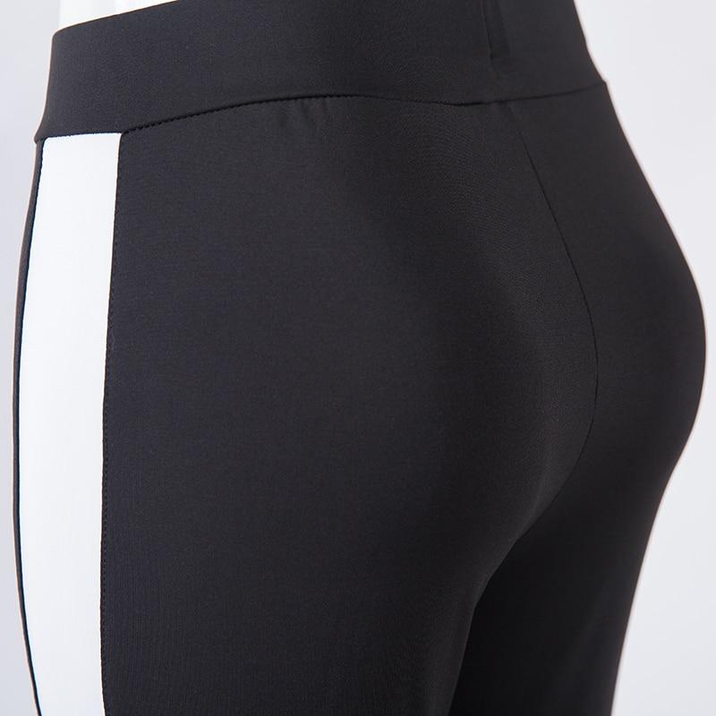 Legging Mulheres Skinny Calças Sexy Ladies Moda Preto Branco - Roupas femininas - Foto 5