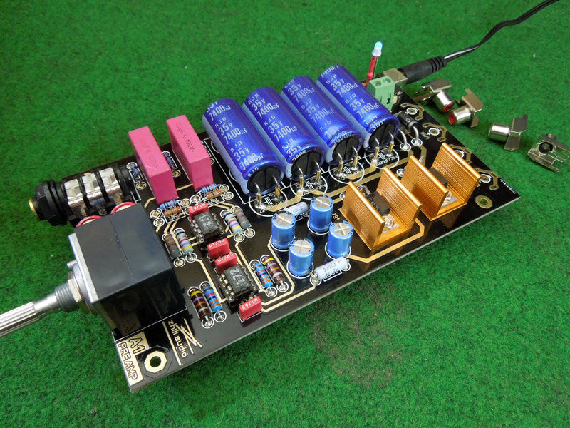 ZEROZONE Assembled Hifi stereo preamp/headphone amp base on Musical Fidelity A1 L6-42 musical fidelity ams100 silver
