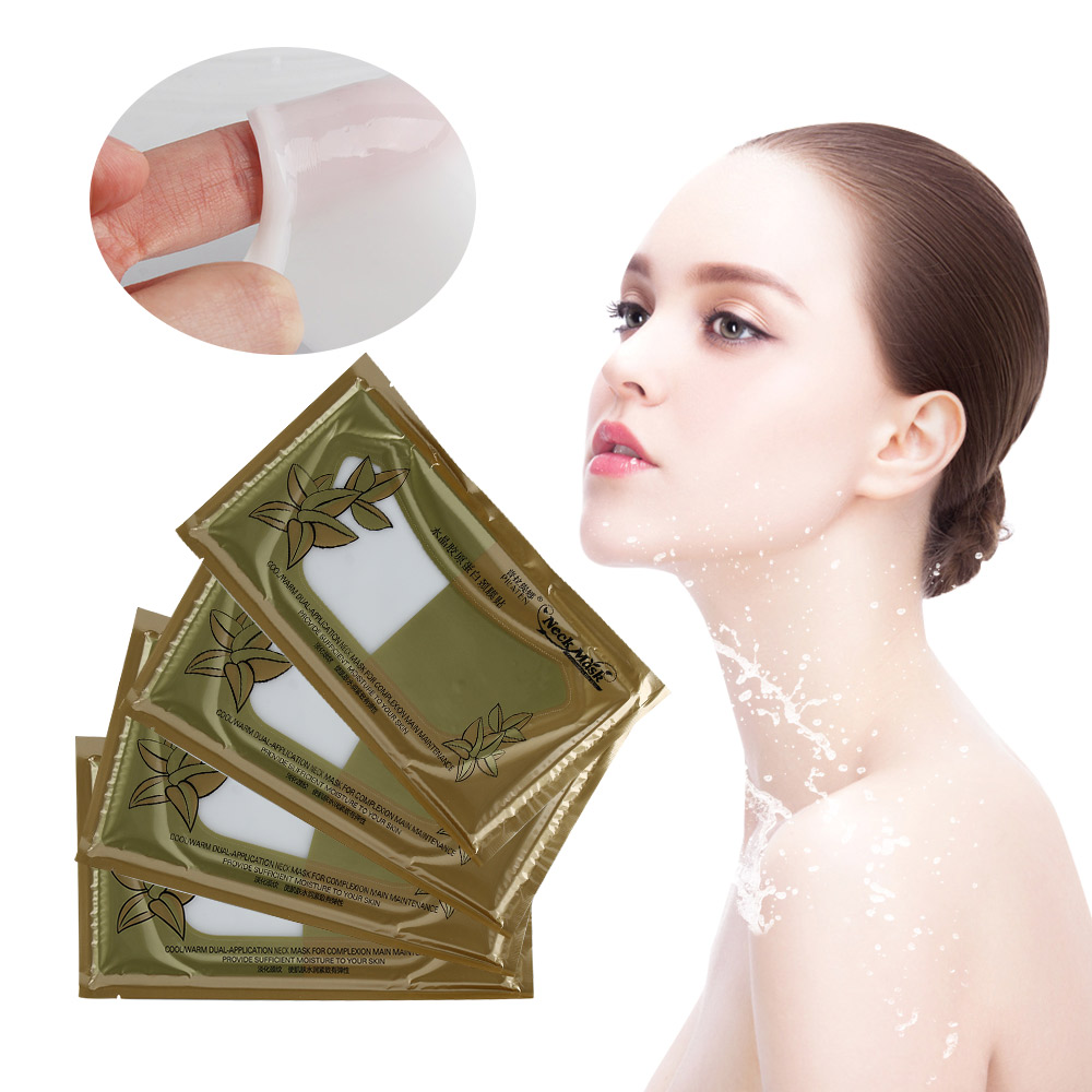 1 PC Crystal Collagen Moisture Neck Pad Patch Anti-Wrinkle Lift Mask Anti-aging Neck Mask whitening and remove neck wrinkles