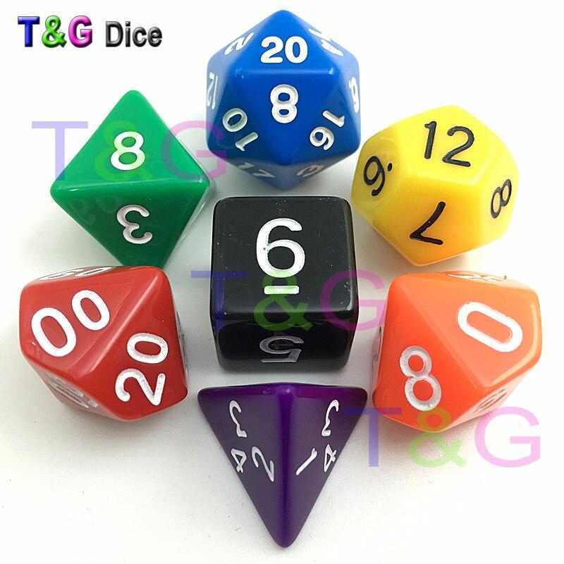 Colorful Dice Set D4 D6 D8 D10 D12 D20