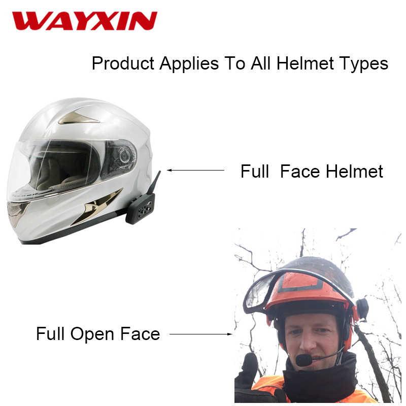 WAYXIN R6 Intercom Helmet Bluetooth Headset Motorcycle Communication  Intercom 6 Riders Interphone Speaker MP3 GPS Bluetooth