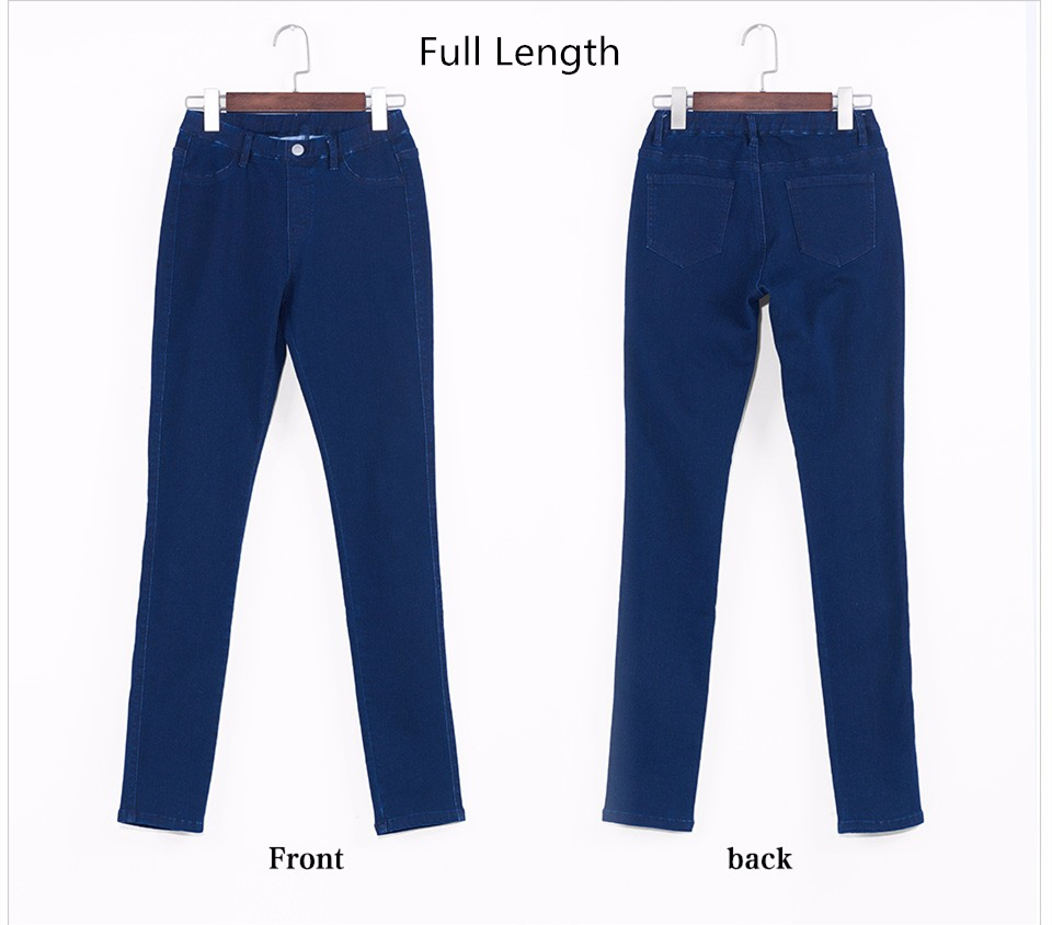 Women Jeans Plus Size Casual high waist summer Autumn Pant Slim Stretch Cotton Denim Trousers for woman Blue black 4xl 5xl 6xl 20