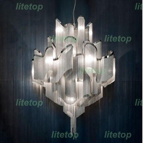 Modern stream suspension light aluminum chain chandelier modern novelty lighting fixture aluminum pendant lamp chain chandelier