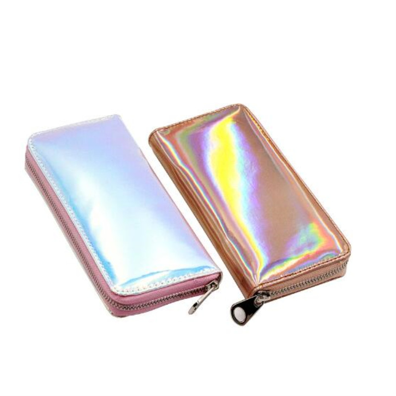8de72ba6b096 MaDonNo Hologram Wallet Female Clutch Long Holographic Ladies Bag Girl With  Zipper Coin Purse Card Id Holders Women Wallets