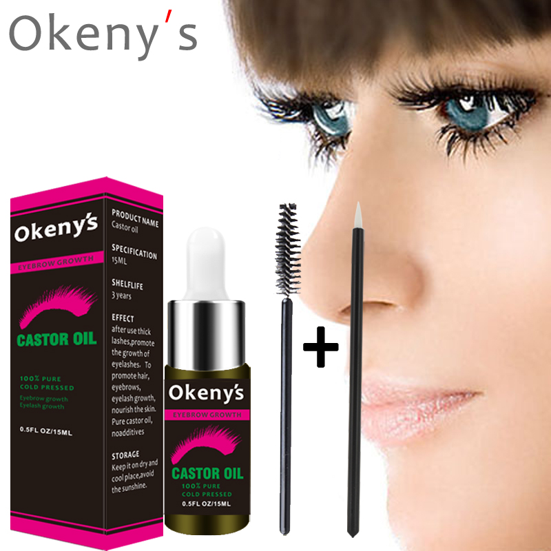 5cb2bd99505 OKeny's 15 ML Hair Essential Oil Natural Castor Oil Eyelashes Eyebrow  Growth Prevent Skin Aging Castor Organic Serum Mascara