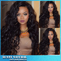 Top Quality Natural Black Glueless Synthetic Wigs Kinky Curly Lace Front Wig Heat Resistant Fiber Curly Synthetic Lace Front Wig