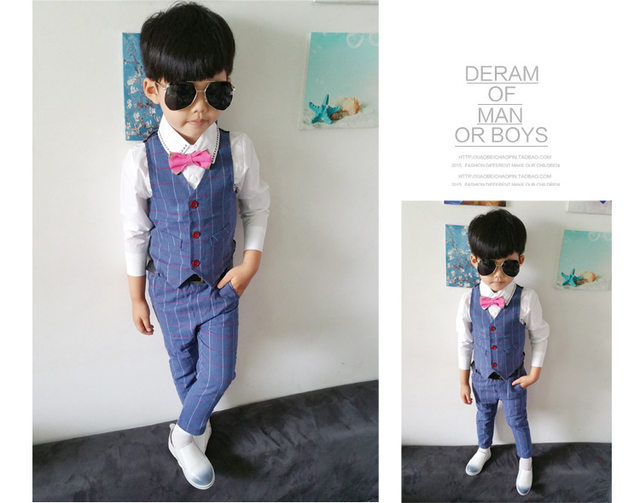 Online Shop New Baby Boys Formal Suit Children Clothing Set ...