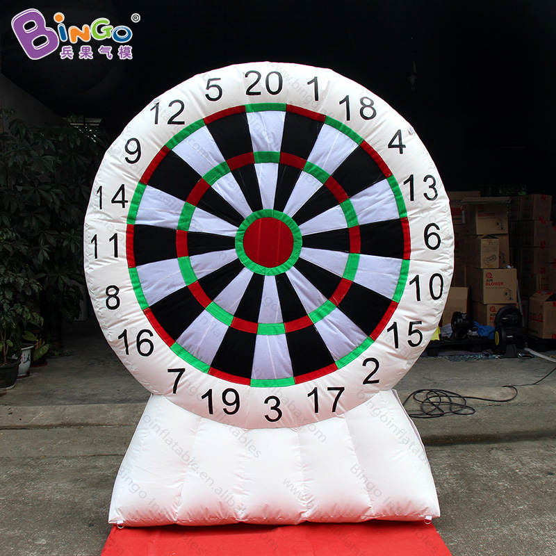 High quality 2.2M high white inflatable dart board for carnival 2018 hot sale funny dart throw target game for amusement park tsuyoki dart 80f 113