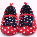 Baby Toddler Girls Princess Shoes Polka Dot Bowknot Soft Shoes 0-12 months