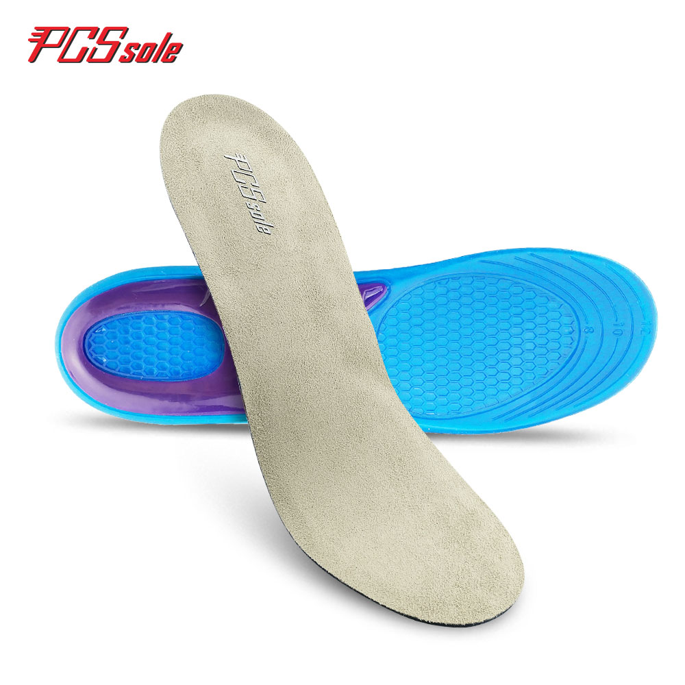 original PCSsole free size Gel TPE insoles Anti -Slip Deodorization shock absorption Breathable insoles sport pad for man T1001 2017 promotion gel insoles shock