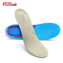 ФОТО originial pcssole free size gel tpe insoles anti -slip deodorization shock absorption breathable insoles sport pad for man t1001