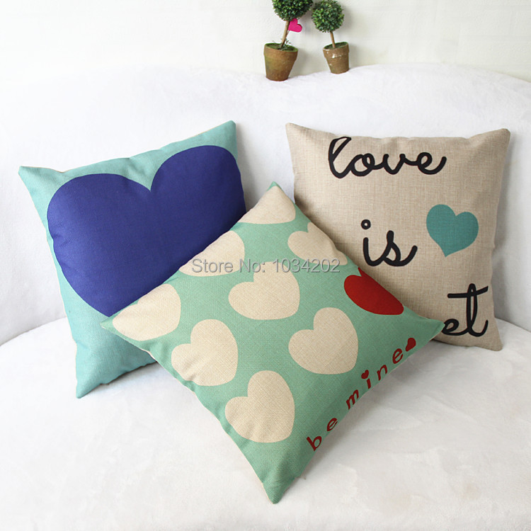 200pcs/lot Sweetheart Couple Mildew Absorbent Composite Linen Pillow Non-core To Map Custom Pillow