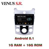 VenusSR Android 8.1 2.5D car dvd for KIA Forte Cerato Radio 2007 2017 multimedia headunit GPS gps navigation