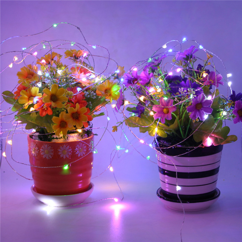 1Pcs 5M 10M Copper Silver Wire USB LED String lights Waterproof Holiday lighting For Fairy Christmas Wedding Party Decoration