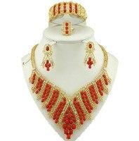 18k Gold Jewelry Sets African Necklace Nigerian Wedding Jewelry Set