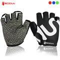 Велосипедные перчатки с полупальцами BOODUN  дышащие противоскользящие перчатки для MTB велосипеда  гелевые перчатки для езды на велосипеде  ...