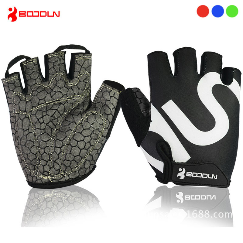 BOODUN Half Finger Cycling Gloves Breathable MTB Bike Anti Slip Gloves Bicycle Gel Pad Gloves Guantes Ciclismo