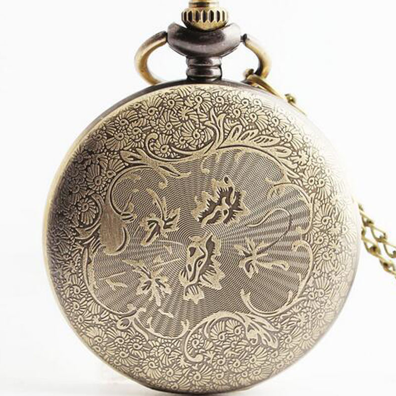 Vintage Antik Bronze Old Shanghai Design Pocket Watch Quartz Watches - Lommeur - Foto 3