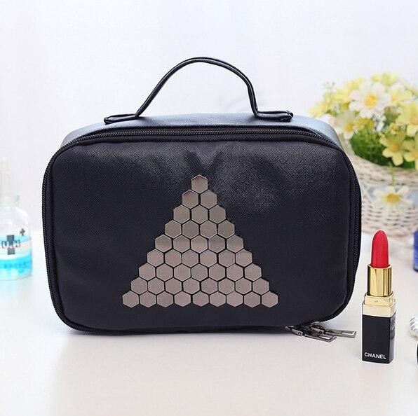 Organizador de viajes Multifuncional Bolsas Venta Caliente Bolsas de Almacenamiento de Bolsas De Maquillaje De Moda de Nueva marca Mujeres Casos Cosméticos