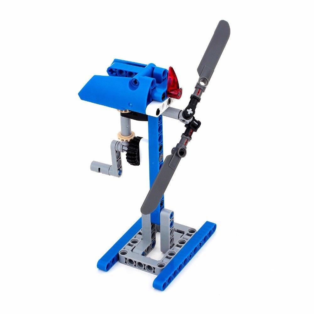 Technic Funny Manual Windmill City Building Bricks Block Kids Model Set Handmade Educational Toys for Children YG58411