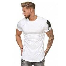Casual Men Zipper sleeve Hip hop T-Shirt Tops SF