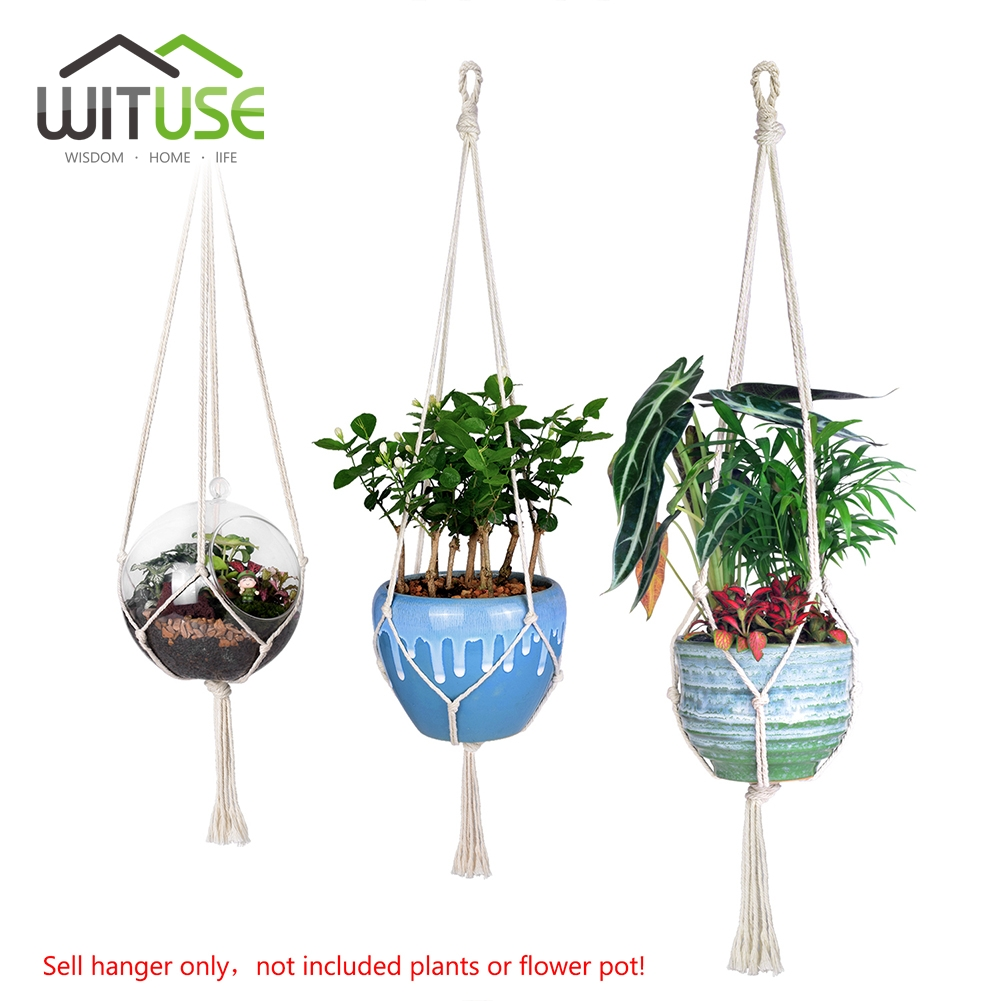 Modern Wituse Potted Flower Plant Hanger Cotton Garden Plantsher Hanging Balcony Wall Plant Hooks Rails From Home On Wituse Potted Flower Plant Hanger Cotton Garden garden Garden Plant Hangers