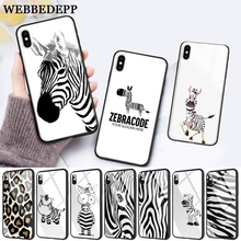 WEBBEDEPP Cartoon zebra supreman stripe On Sale Glass Phone Case for Apple iPhone 11 Pro X XS Max 6 6S 7 8 Plus 5 5S SE
