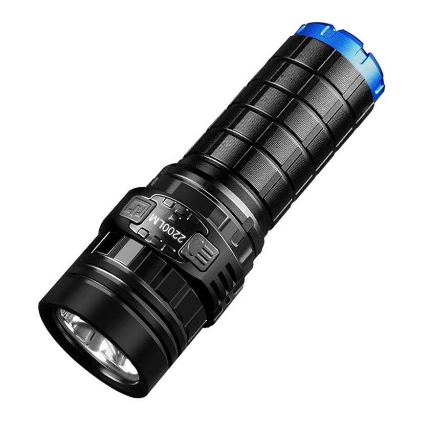 IMALENT DN35 USB recargable CREE XHP70 2200 lúmenes LED linterna autodefensa con IPX-8 impermeable con 26650 batería
